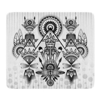 Abstract Ancient Native Indian Tribal Cutting Board