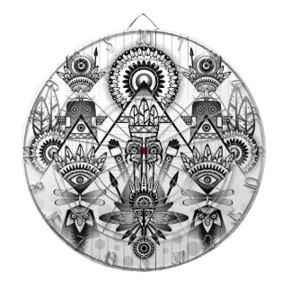 Abstract Ancient Native Indian Tribal Dartboard