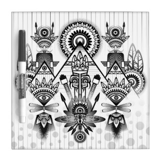 Abstract Ancient Native Indian Tribal Dry-Erase Board