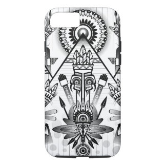 Abstract Ancient Native Indian Tribal iPhone 8/7 Case