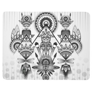 Abstract Ancient Native Indian Tribal Journal