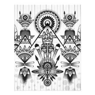 Abstract Ancient Native Indian Tribal Letterhead