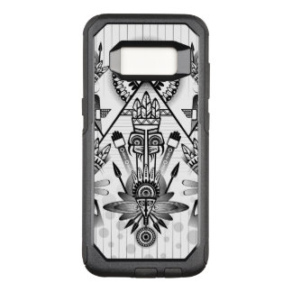 Abstract Ancient Native Indian Tribal OtterBox Commuter Samsung Galaxy S8 Case