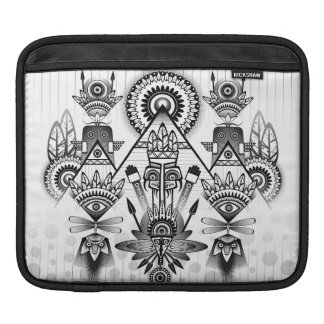 Abstract Ancient Native Indian Tribal Sleeves For iPads