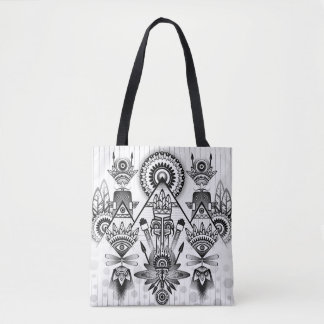 Abstract Ancient Native Indian Tribal Tote Bag