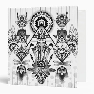 Abstract Ancient Native Indian Tribal Vinyl Binders