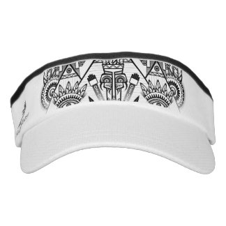 Abstract Ancient Native Indian Tribal Visor