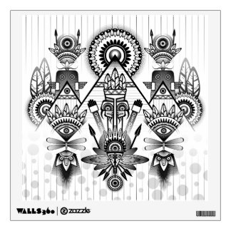 Abstract Ancient Native Indian Tribal Wall Decal