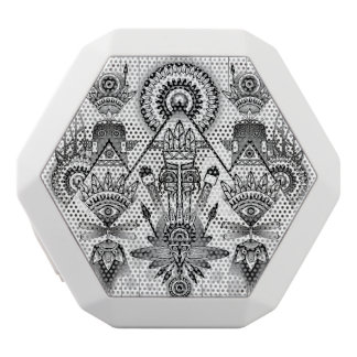 Abstract Ancient Native Indian Tribal White Bluetooth Speaker
