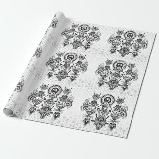Abstract Ancient Native Indian Tribal Wrapping Paper