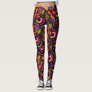 ABSTRACT and COLORFUL!! Leggings