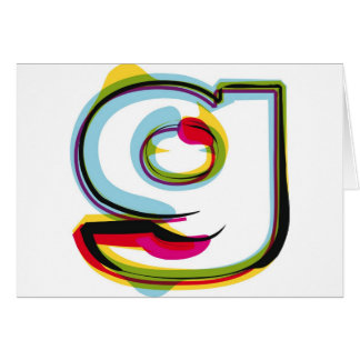 Abstract and colorful letter g card