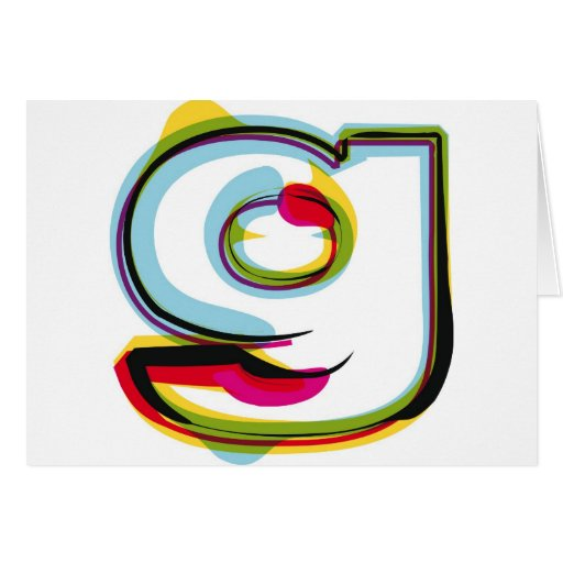 Abstract and colorful letter g cards