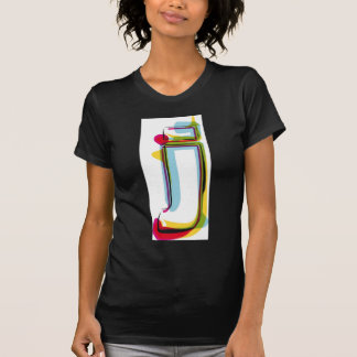 Abstract and colorful letter j T-Shirt