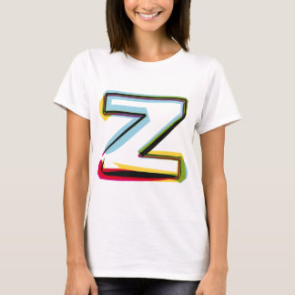 Abstract and colorful letter Z T-Shirt