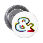 Abstract and colourful symbol & pinback button