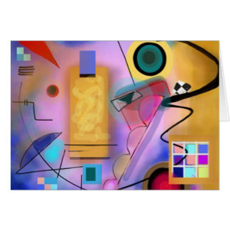 Abstract and Jazzy Card