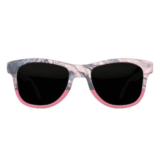 Abstract and Rose Pink Statement Sunglasses