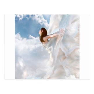 Abstract Angel Cloudy Flutter Dress Postcard