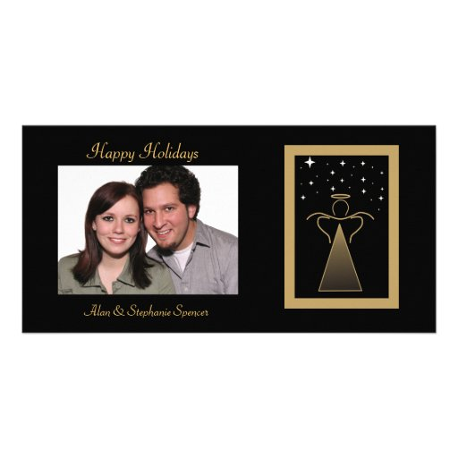 Abstract Angel Holiday Photo Cards