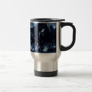 Abstract Angel Horses Moonlight Travel Mug