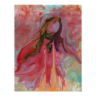 Abstract Angel in Pastels Letterhead