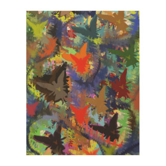 Abstract Angel Pattern Wood Wall Art Wood Canvases
