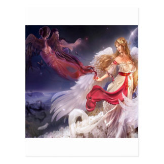 Abstract Angel Quiet Dark And Light Postcard