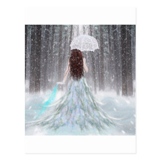 Abstract Angel Winter Snow Princess Postcard