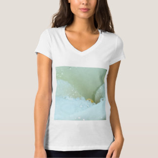 Abstract Angle Of A Calla Lily Flower With Dew And T-Shirt