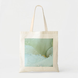 Abstract Angle Of A Calla Lily Flower With Dew And Tote Bag