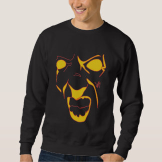 Abstract Angry Face Sweatshirt