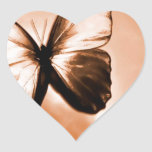 Abstract Animal Butterfly Brown Heart Sticker