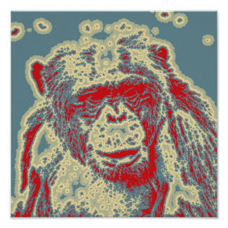 abstract Animal - Chimpanzee Poster