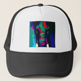 abstract  animal, ellephant, colourfull, cool trucker hat