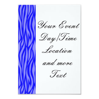 abstract animal print,blue 3.5x5 paper invitation card