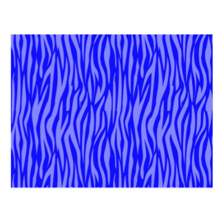 Abstract Animal Print,blue Postcard