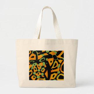 Abstract animal print large tote bag