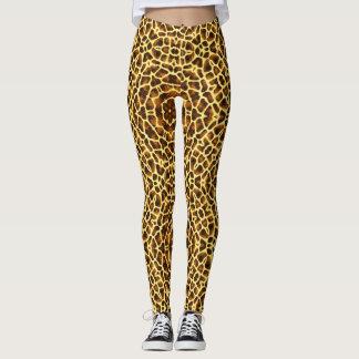 abstract animal print leggings