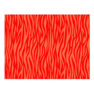Abstract Animal Print,red Postcard