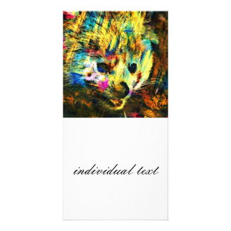 abstract Animal - red Panda Photo Card Template