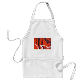 Abstract Antique Junk Style Fashion Art Solid Shin Standard Apron