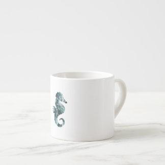 Abstract aqua seahorse