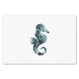 Abstract aqua seahorse tissue paper