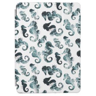 Abstract aqua seahorses pattern iPad air cover