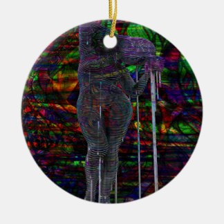 Abstract Aquarius Goddess Ceramic Ornament