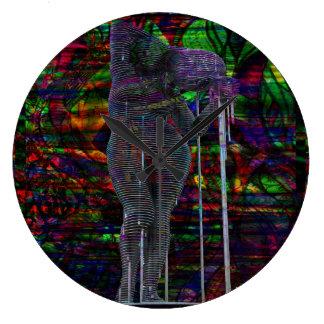 Abstract Aquarius Goddess Large Clock