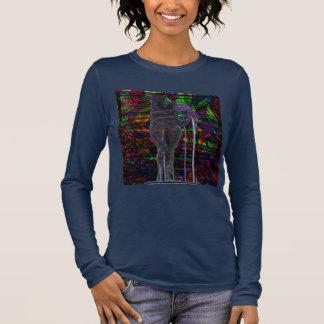 Abstract Aquarius Goddess Long Sleeve T-Shirt