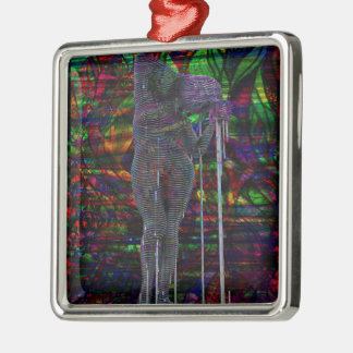 Abstract Aquarius Goddess Metal Ornament