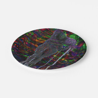 Abstract Aquarius Goddess Paper Plate